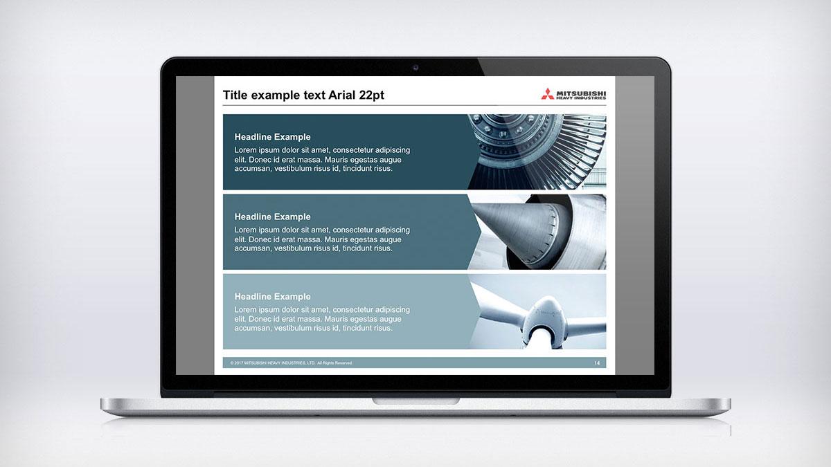 Mitsubishi Group powerpoint presentation on Macbook