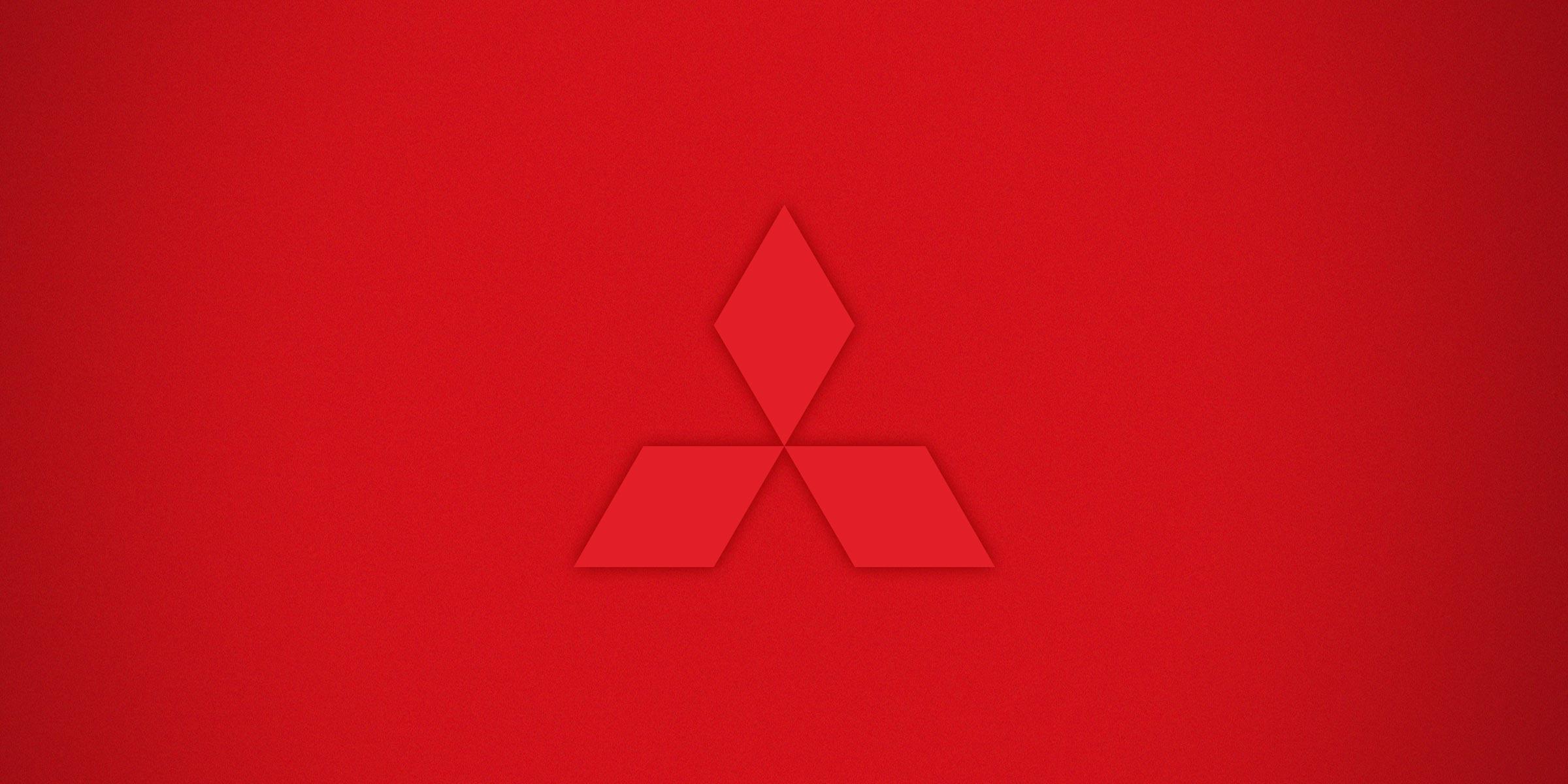 Mitsubishi symbol on red background