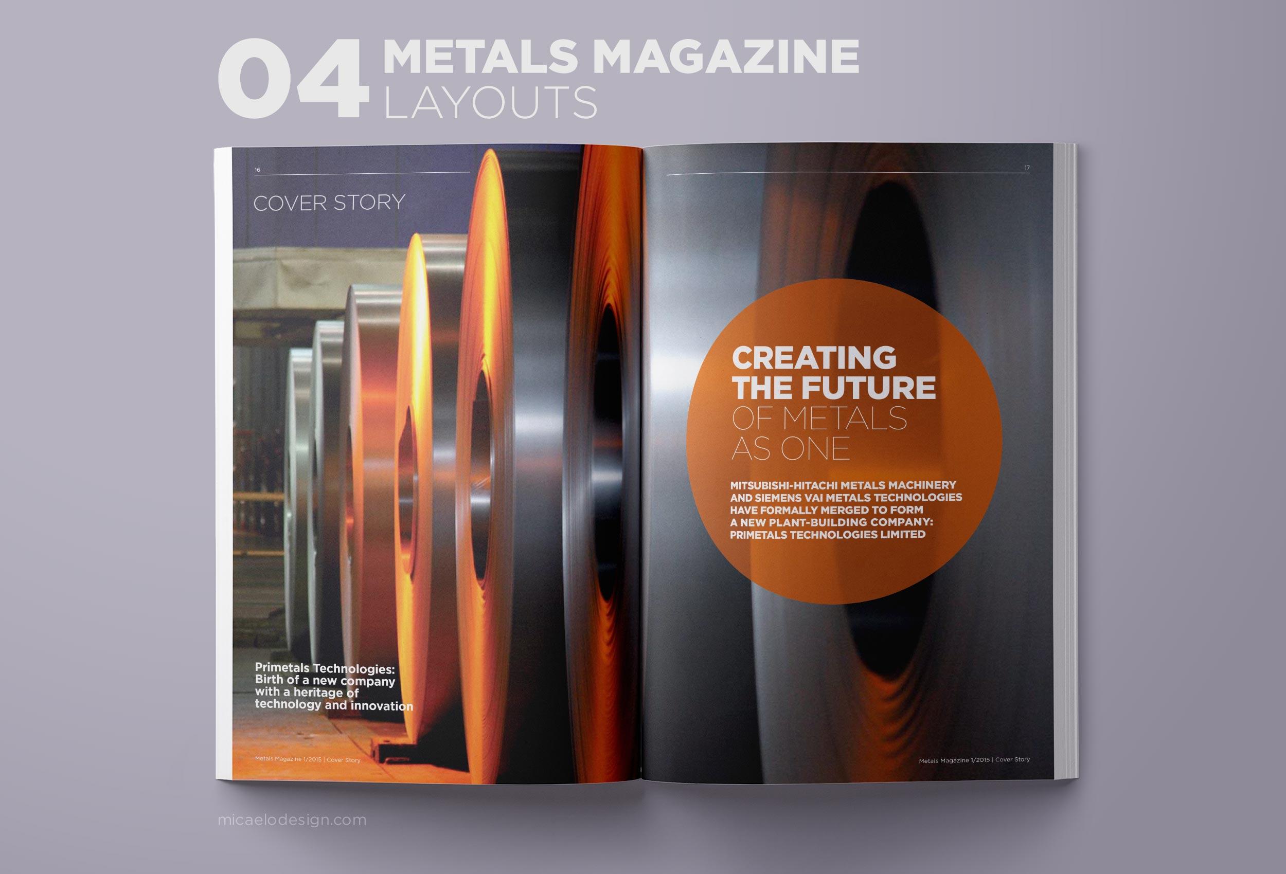 Primetals Metals Magazine layout N04