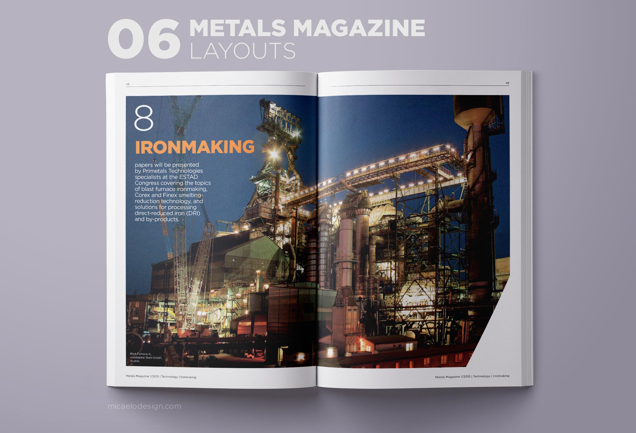 Primetals Metals Magazine layout N06