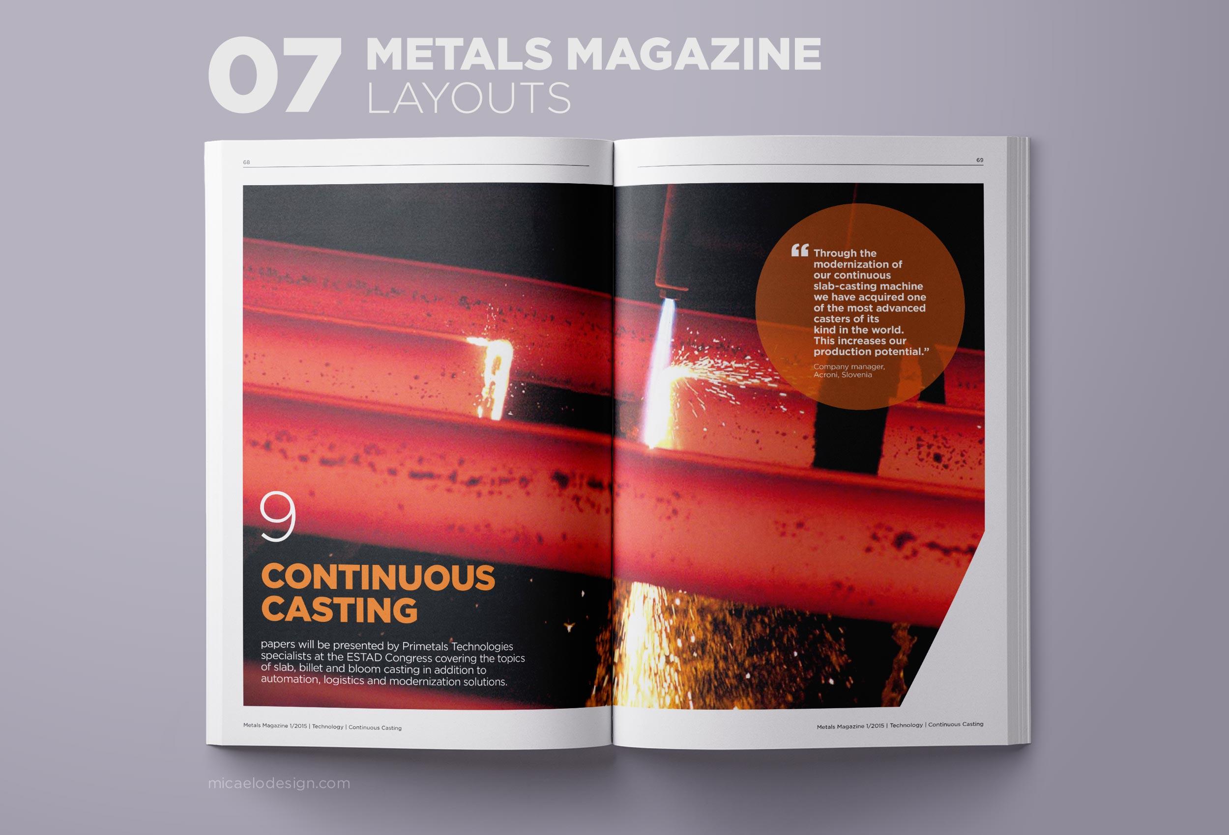Primetals Metals Magazine layout N07