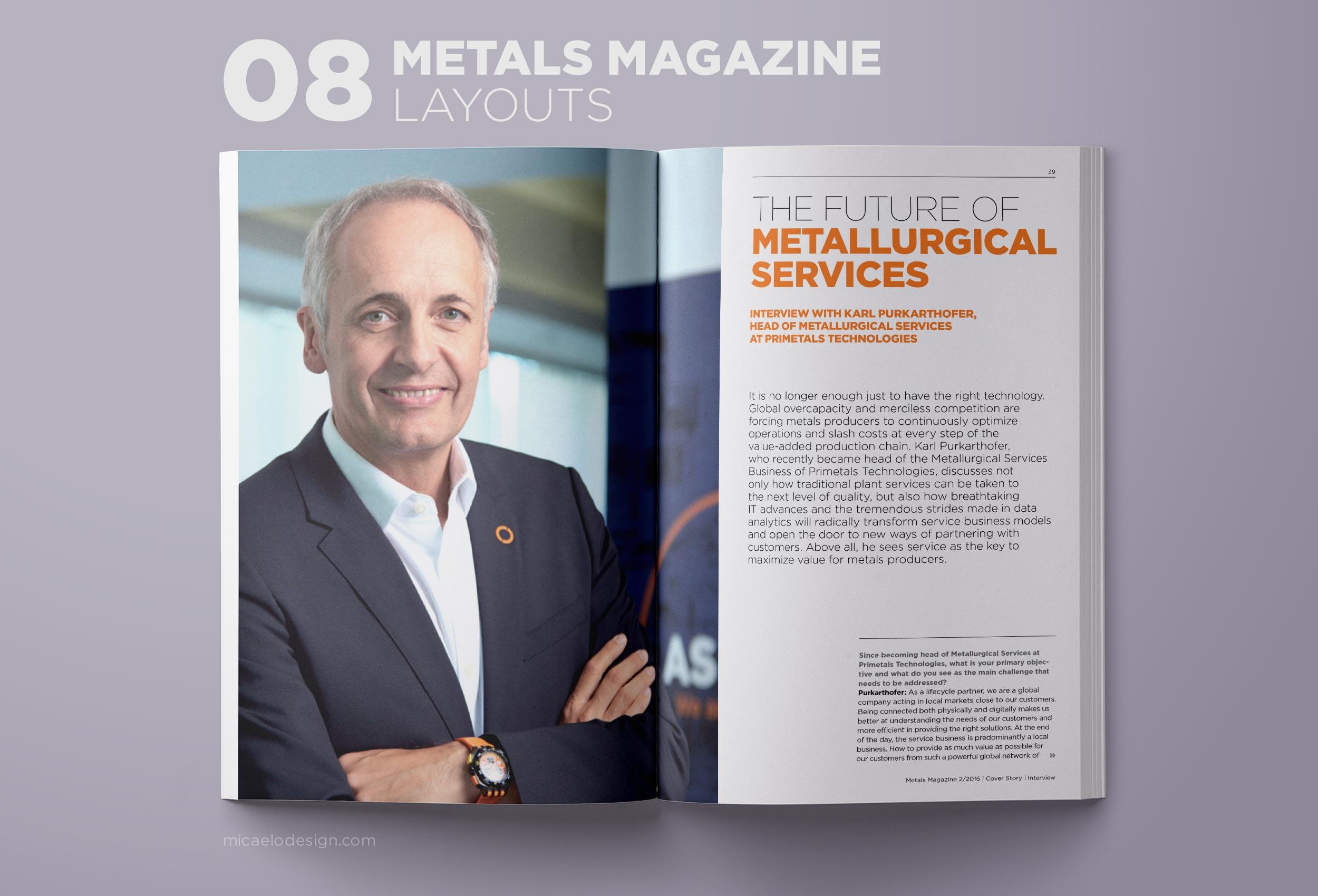 Primetals Metals Magazine layout N08