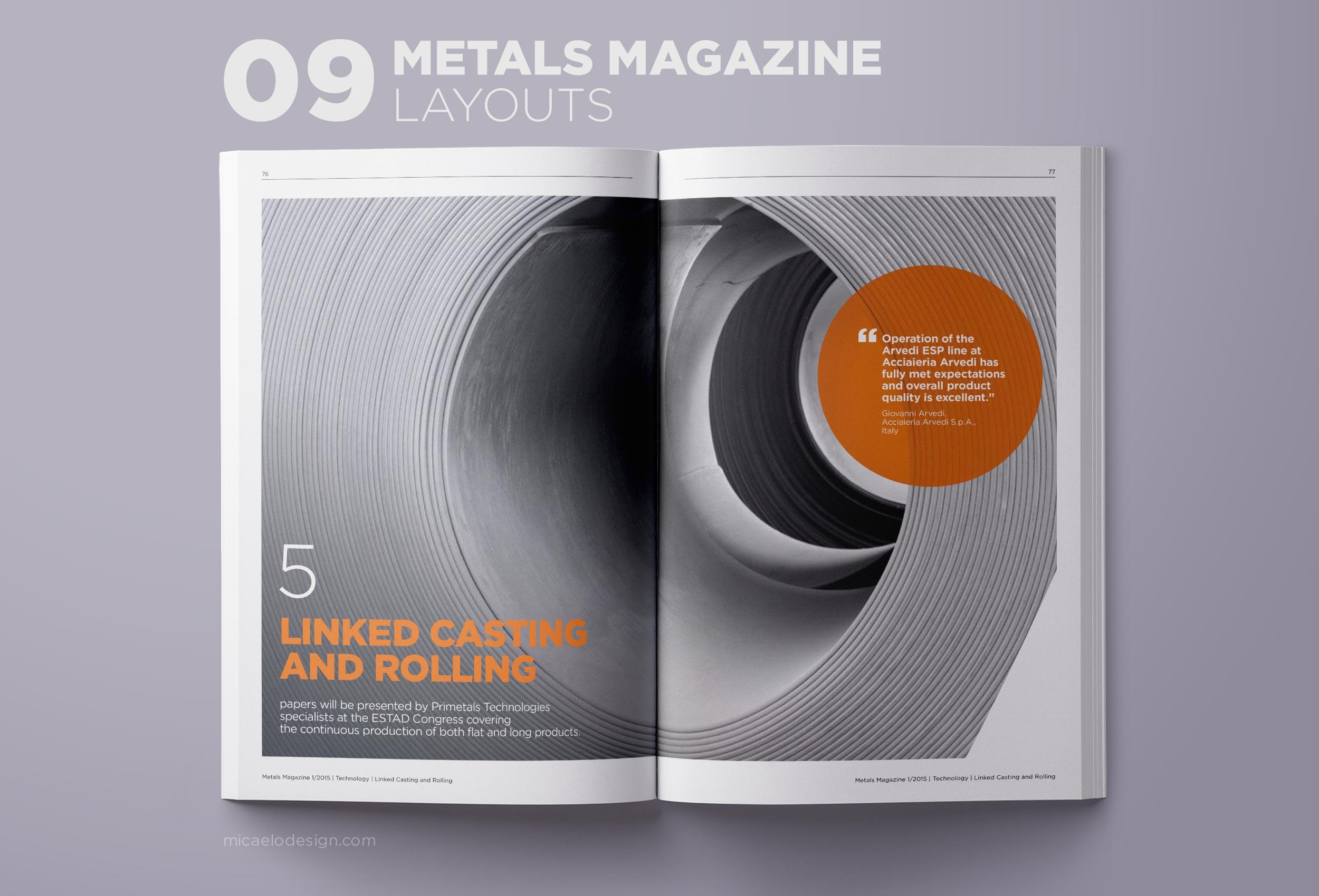 Primetals Metals Magazine layout N09