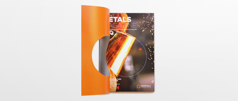 Open cover of Primetals Metals Magazine