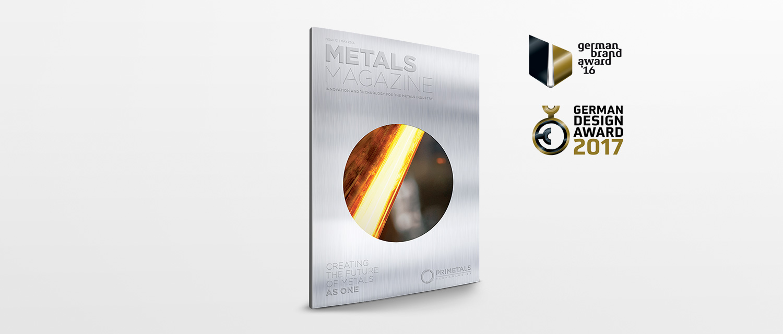 Primetals Metals Magazine German Design Award cover