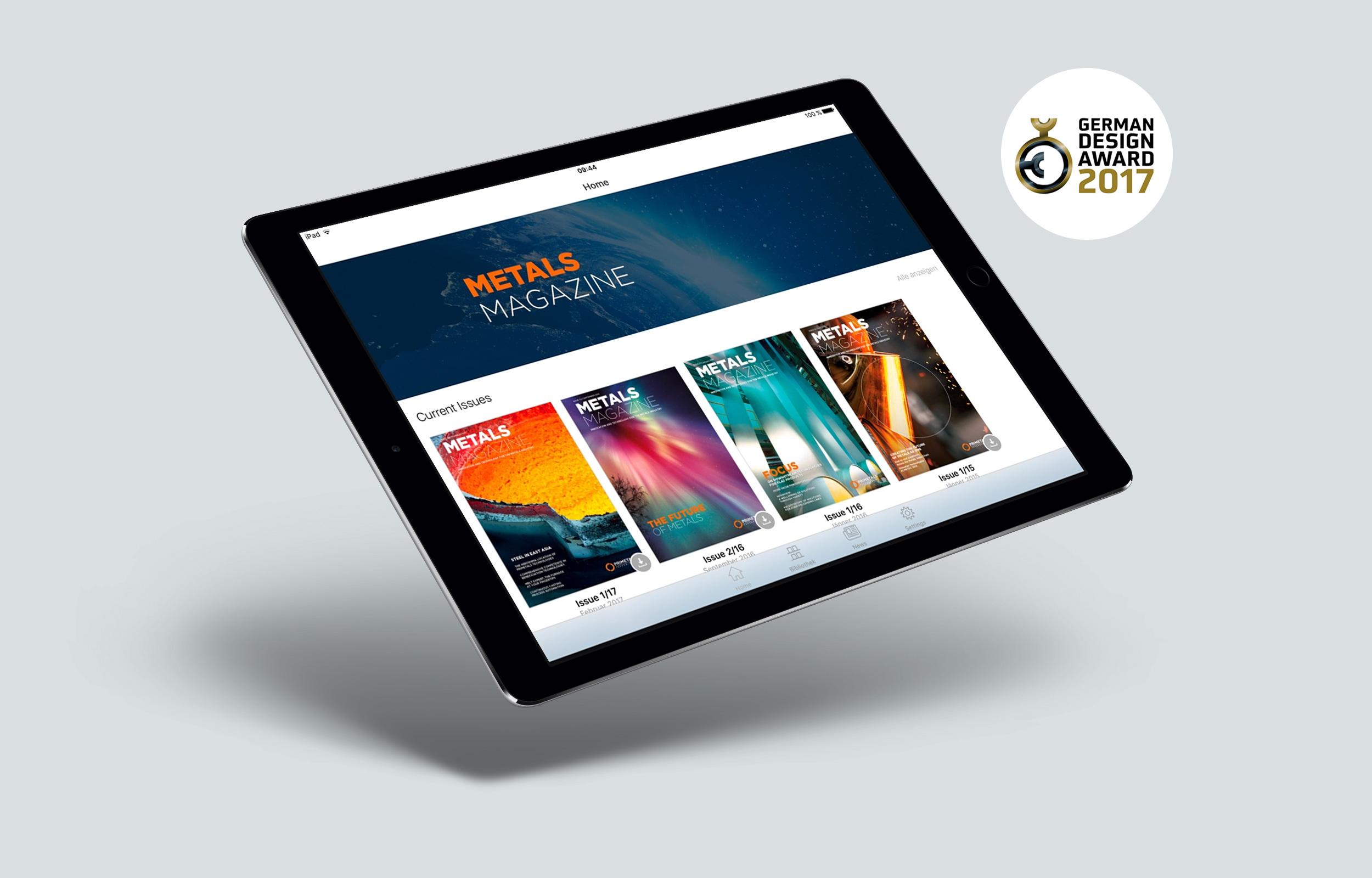 Primetals Metals Technologies iPad award