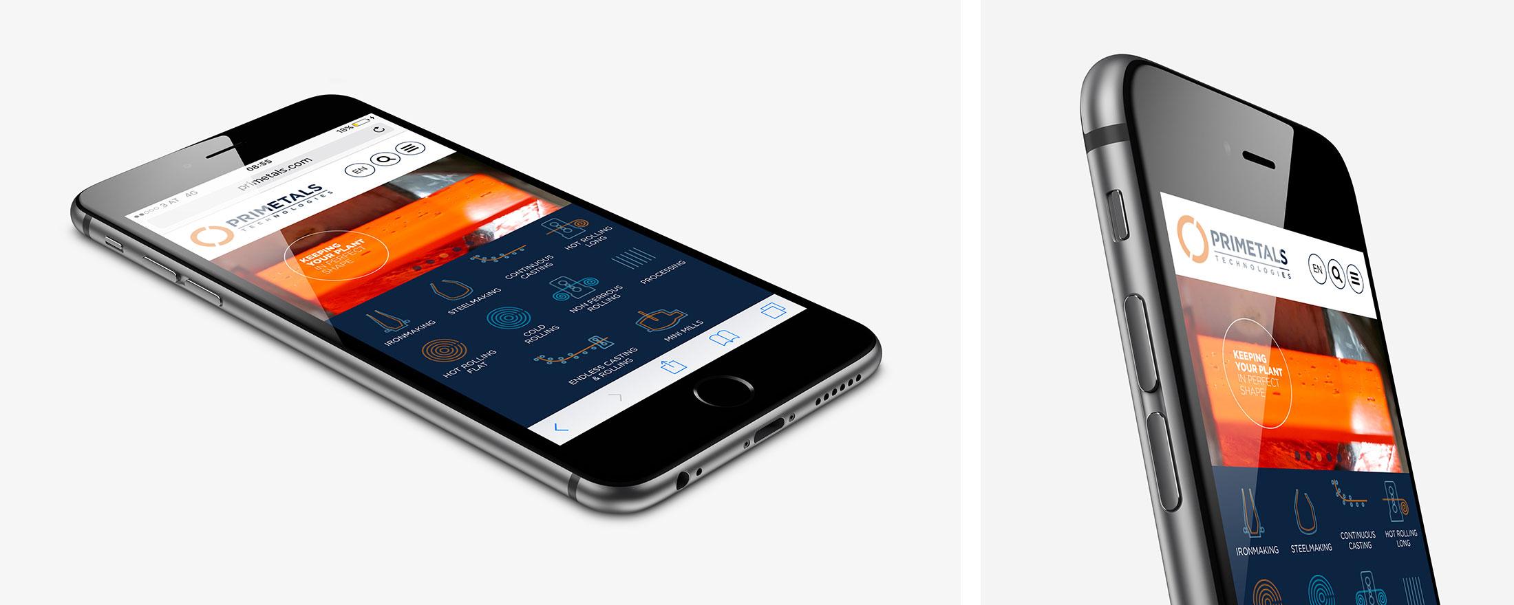 Primetals iPhone mockup