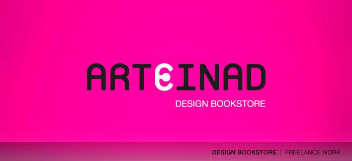 Arteinad design bookstore logo
